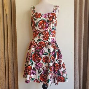 Review Multi Colored Stretch Dress Size 14